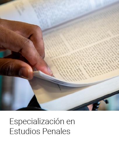 Especialización en Estudios Penales